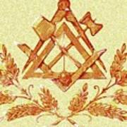 Freemason Symbolism Poster