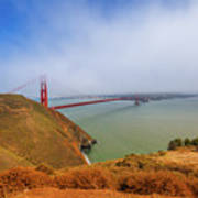 Golden Gate Bridge Vista Point Poster