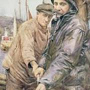 Hauling In The Net Henry Meynell Rheam Poster