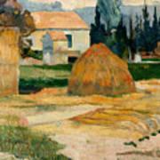 Landscape Near Arles Poster
