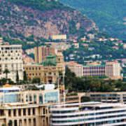 Monte Carlo Cityscape Poster