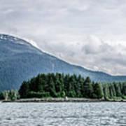 Mountain Range Scenes In June Around Juneau Alaska Poster