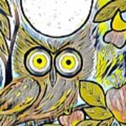 Owl Midnight Poster