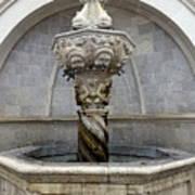 Public Fountain In Dubrovnik Croatia Poster
