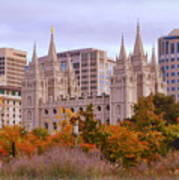 Salt Lake City Lds Temple Poster