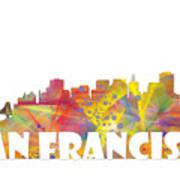 San Francisco California Skyline Poster