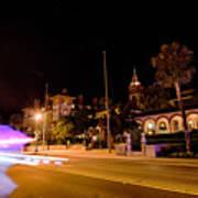 St Augustine City Street Scenes Atnight Poster