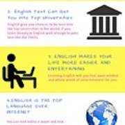 5 Valuable Reasons To Learn The English Language Poster