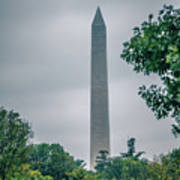 Washington Mall Monumet On A Cloudy Day Poster