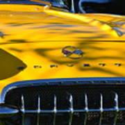 Yellow Corvette Poster