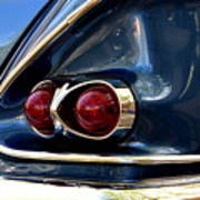 58 Bel Air Tail Light Poster