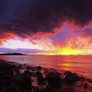 Antelope Island Sunset Poster
