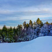 Beautiful Winter Landscape At Timberline West Virginia Poster