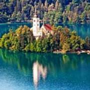Church Of The Assumption - Lake Bled, Slovenia Poster