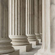 Columns Of The Supreme Court Poster