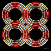 6 Concentric Rings X 4 Poster