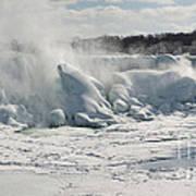 Frozen Niagara Falls Poster