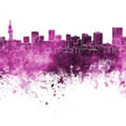 Pretoria Skyline In Watercolor Background Poster