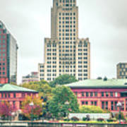 Providence Rhode Island City Skyline In October 2017 Poster