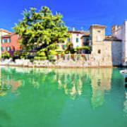Town Of Sirmione Entrance Walls View Poster