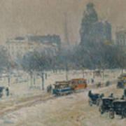 Winter In Union Square Poster