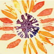 60's Sunflower Poster by Annie Alexander
