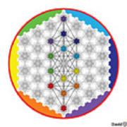 64 Tetra Chakra Activation Grid Poster