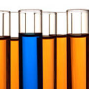 Test Tubes In Science Research Lab Poster