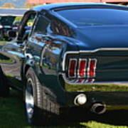 67 Mustang Fastback Poster
