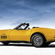 '69 Corvette Sting Ray Poster