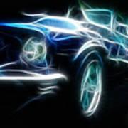 69 Mustang Mach 1 Fantasy Car Poster