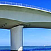 6x1 Sarasota Skyline With Ringling Causeway Bridge Poster