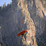 Climber Rescue Operation In Yosemite Poster