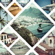 Collage Of Rio De Janeiro Poster
