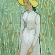 Girl In White Poster