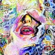 Hidden Face With Lipstick Poster