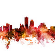 Knoxville Tennessee Skyline Poster
