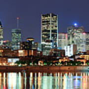 Montreal Over River At Dusk  Poster