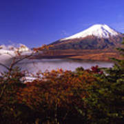 Mount Fuji In Autumn Poster