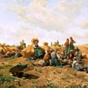 Peasants Lunching In A Field Daniel Ridgway Knight Poster
