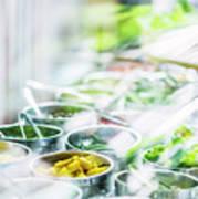 Salad Bar Buffet Fresh Mixed Vegetables Display Poster