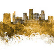 St. Paul Skyline In Watercolor Background Poster