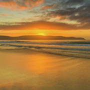 Sunrise Seascape At The Beach Poster