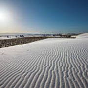 The Unique And Beautiful White Sands National Monument In New Mexico. Poster