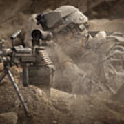 U.s. Army Ranger In Afghanistan Combat Poster