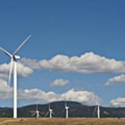 Wind Turbine Farm Poster