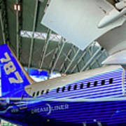 787 Tail Section Poster