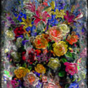 7a Abstract Floral Painting Digital Expressionism Poster