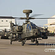 Ah-64d Apache Longbow Taxiing Poster