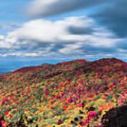 Beautiful Autumn Landscape In North Carolina Mountains Poster